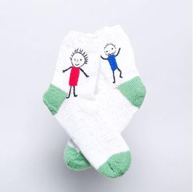 Obrázek z pletené ponožky