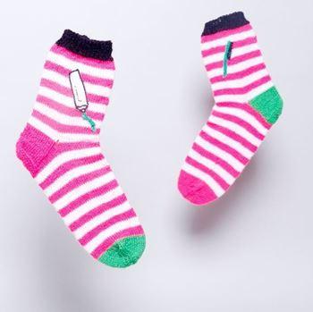 Obrázek pletené ponožky